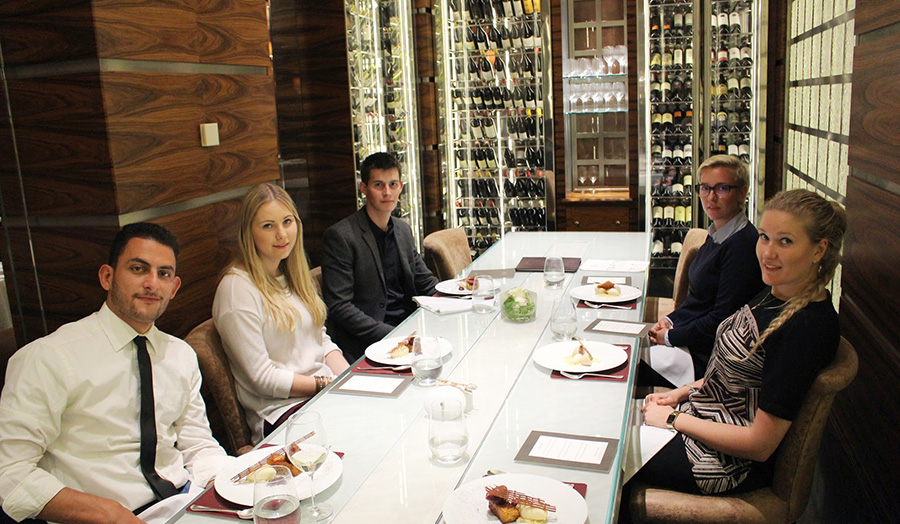 Students at Alyn Williams at The Westbury, Mayfair