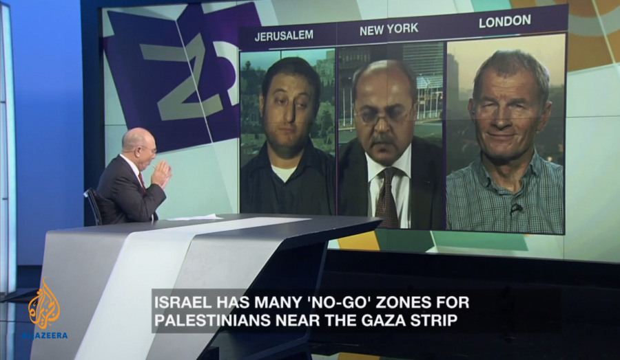 Jeff Haynes on Al Jazeera interviewed on Israel