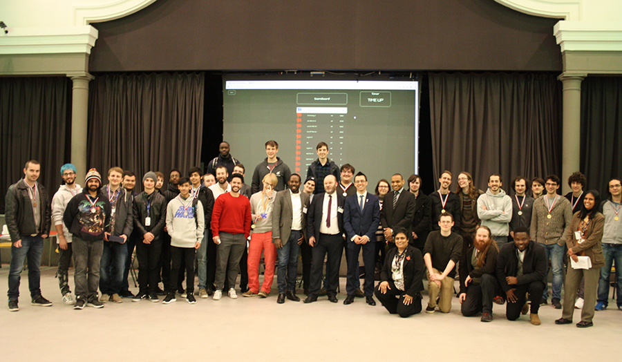 A picture of students and delegates who participated in a cyber security event with the British Computer Society.