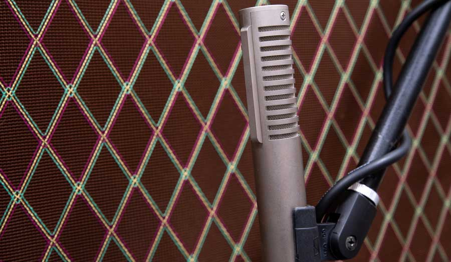 a close up image of a recording device, microphone