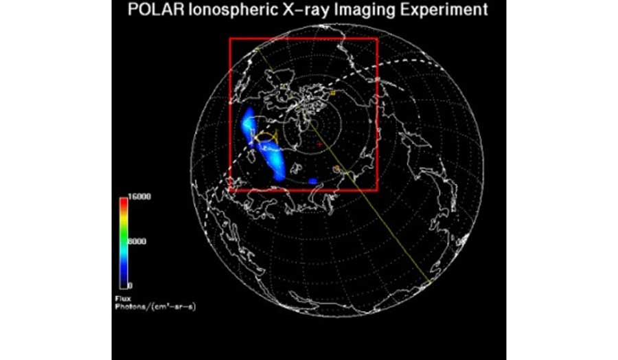 Image of a POLAR Ionospheric X-ray Imaging Experiment