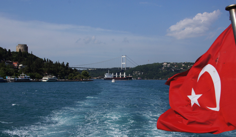 Image of Turkish flag on boat - Photo courtesy of Patrick Denker on Flickr