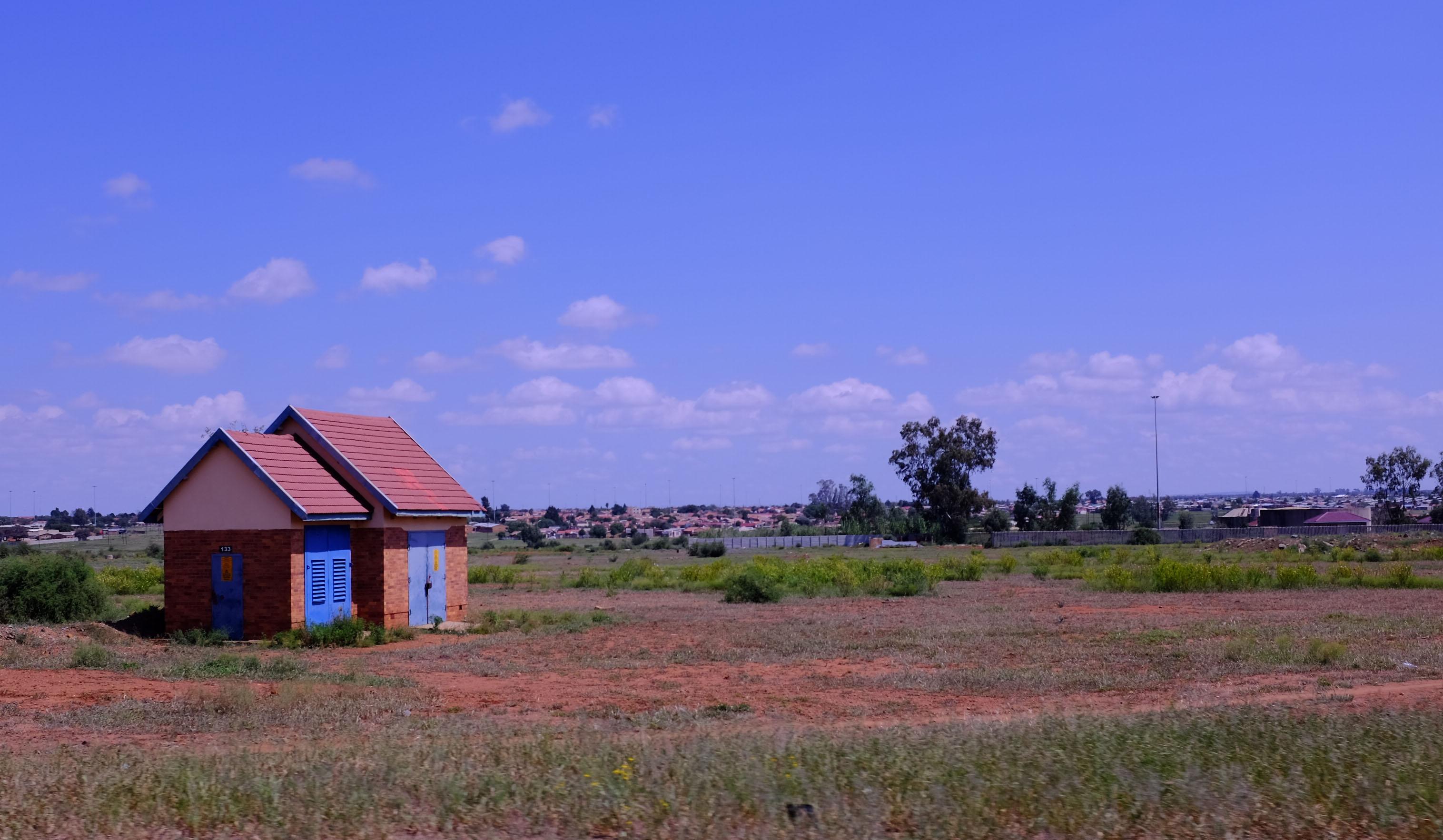 Small house on South African plain