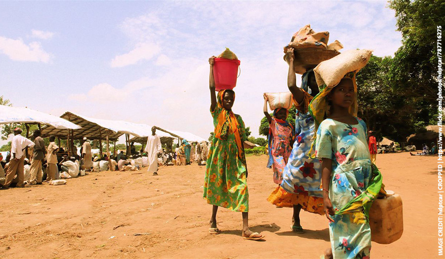 Photograph of refugees in Darfur.
