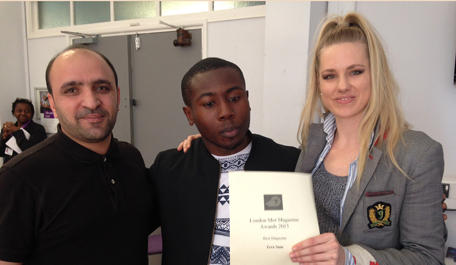 Journalism students judged the fourth-annual London Met Magazine Awards