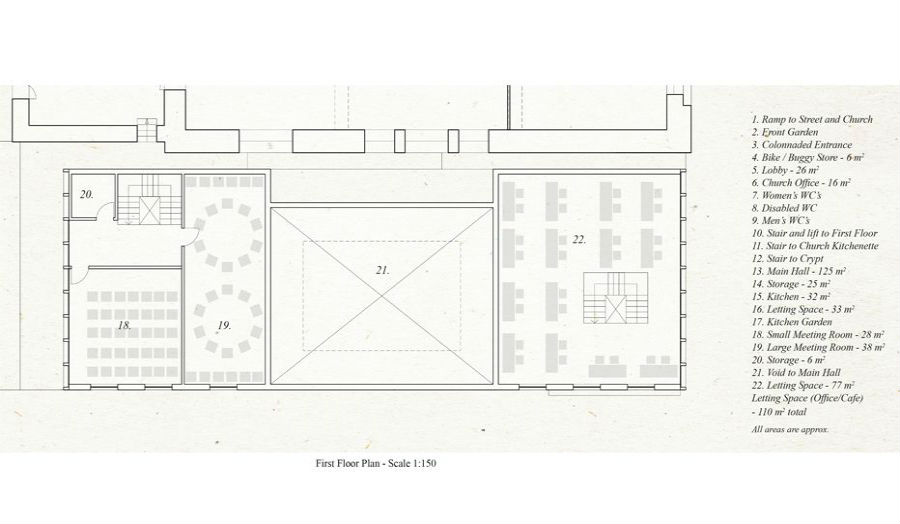 First Floor Plan St Botolphs Hall