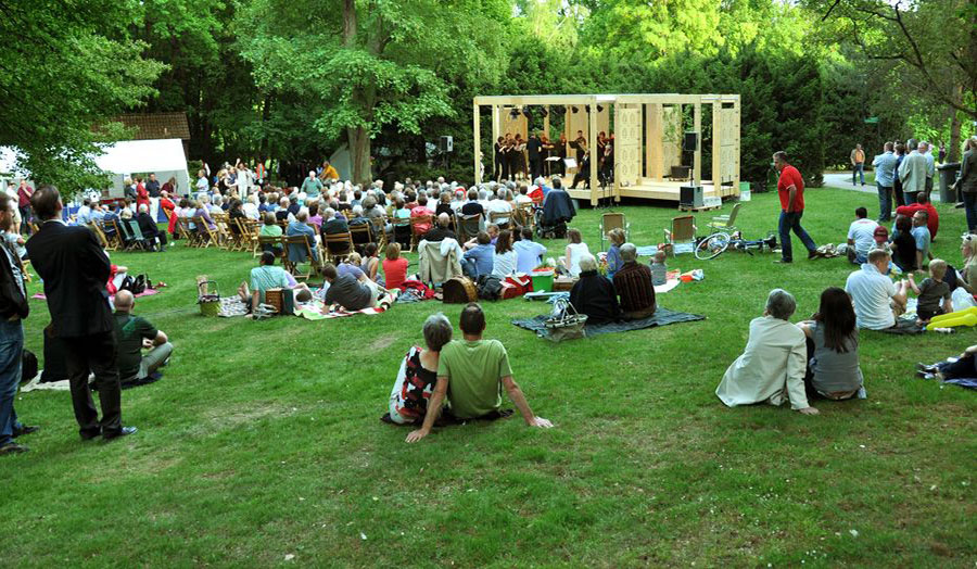 Outdoor stage in Kronberg, Germany Opening event 2011