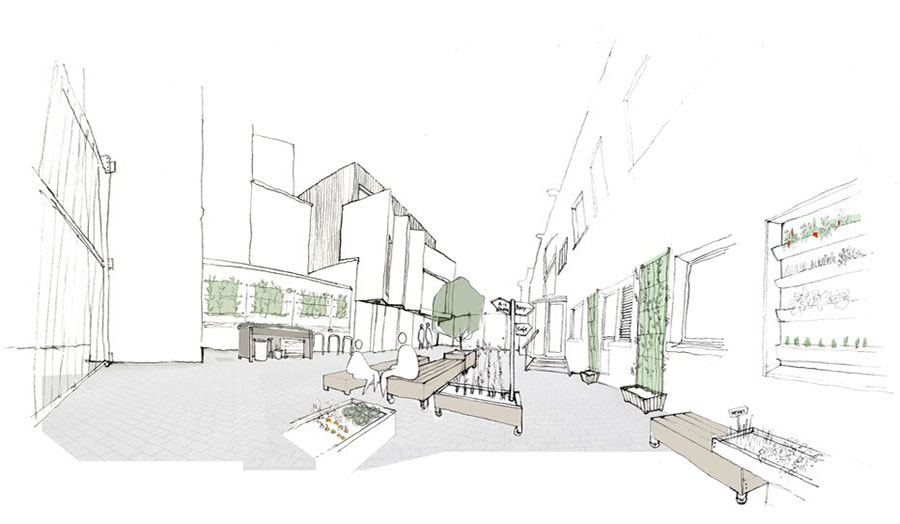 Providence Row Courtyard proposal