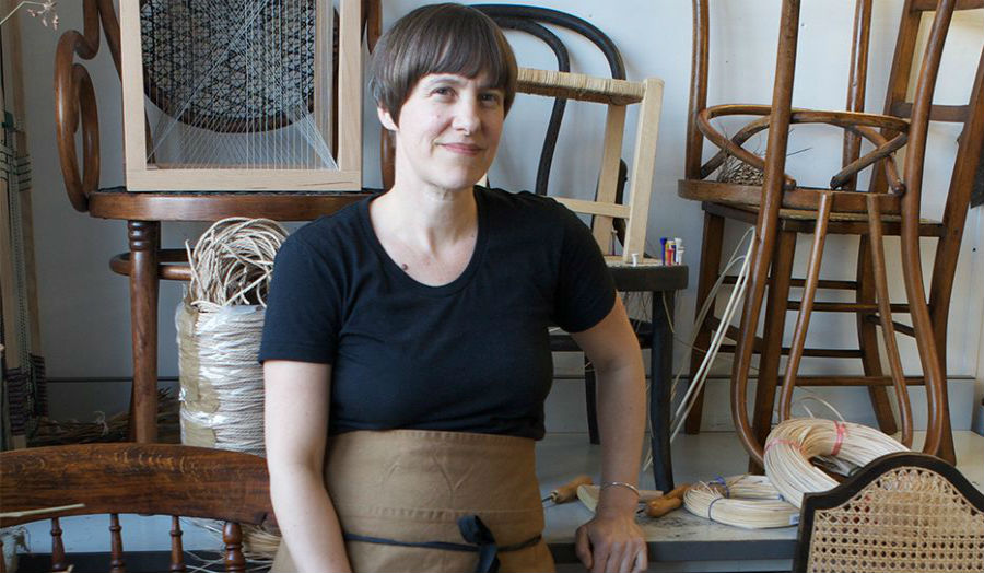 Image of Rachael South in her studio