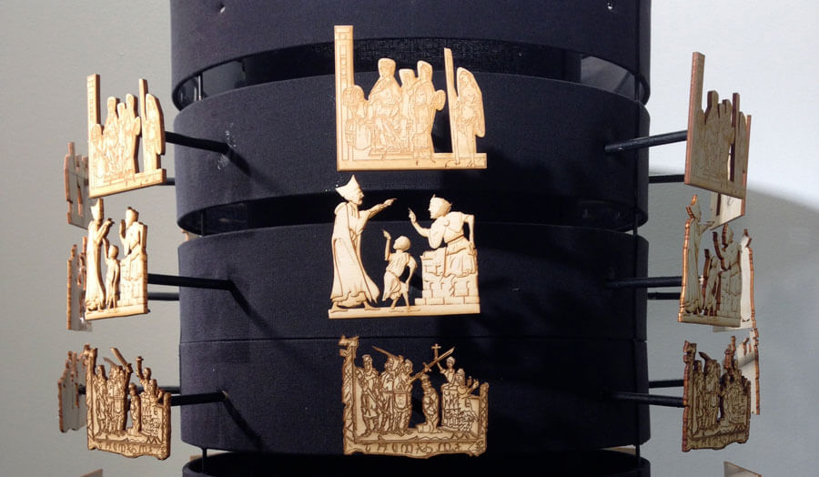 015 Museum of London, 3D Zoetrope Exhibit, involving laser cutting, group work