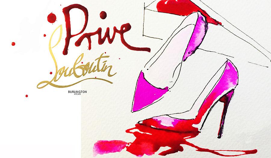 Mood board for Louboutin shoe store
