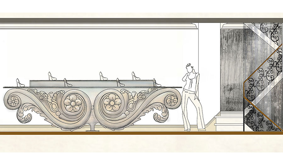 Design for the Louboutin shoe store