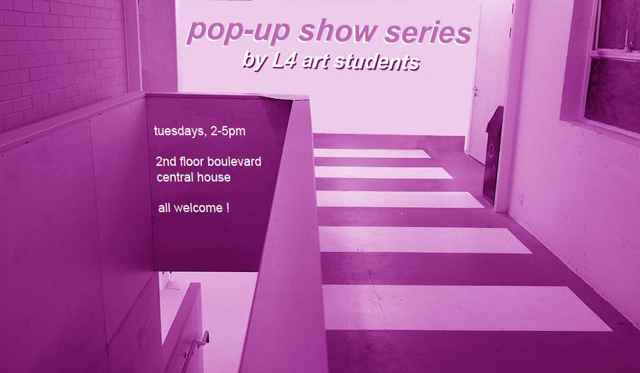 Pop up show poster