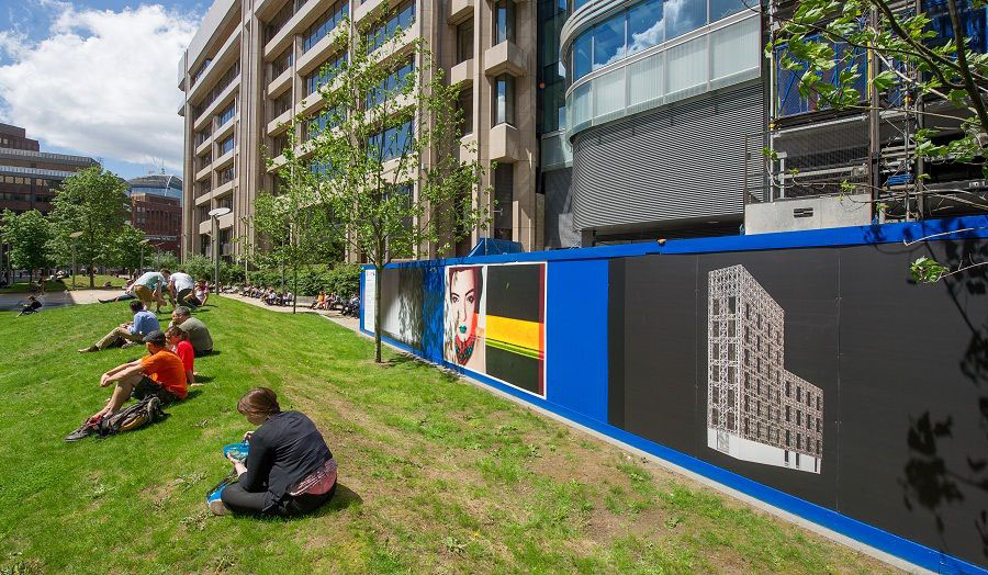 Hoardings - Aldgate Tower