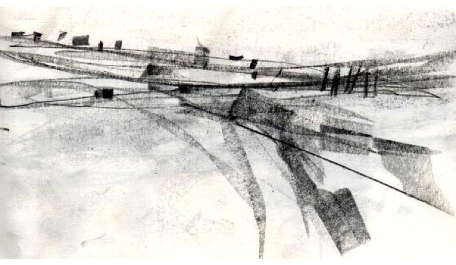 Drawing The Line - Train Sketch
