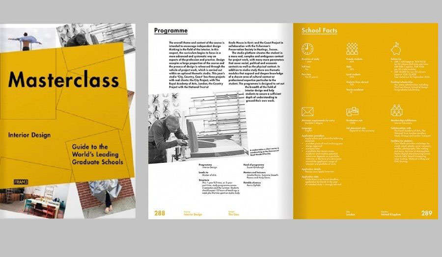 MA Interior Design course selected as one of Top 30 Postgraduate Interior Design courses for FRAME Masterclass Book
