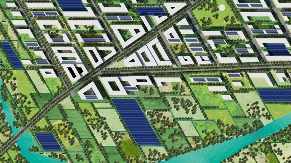 Site plan of Project SOL_ID Team Heliomet's new project entered into Solar Decathlon Latin America & Caribbean 2015