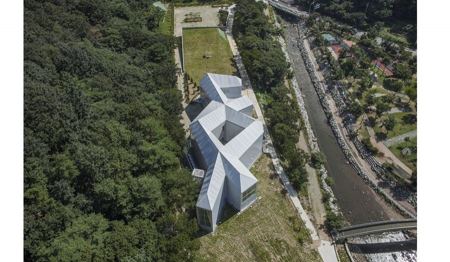aerial view of the Chang Ucchin Museum in Korea,