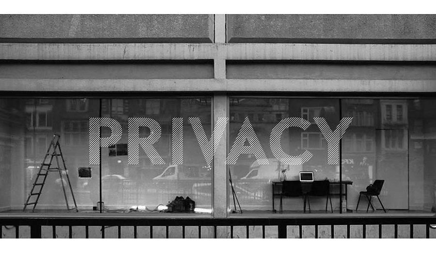 Window with 'privacy' word
