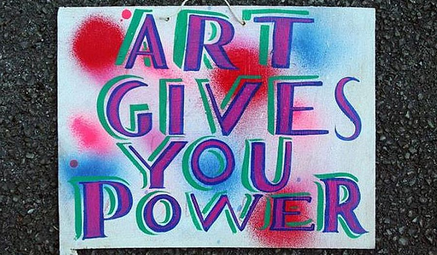 Poster: 'Art Gives You Power'