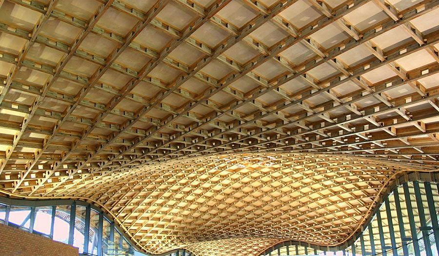 Title: Timber Gridshell Roof, Savill Gardens