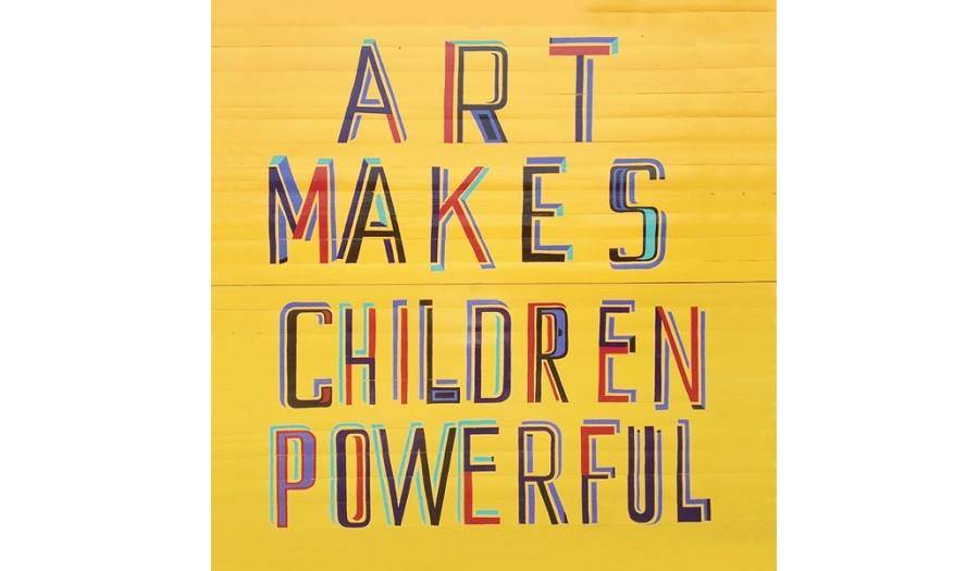 Poster titled 'Art Makes Children Powerful'