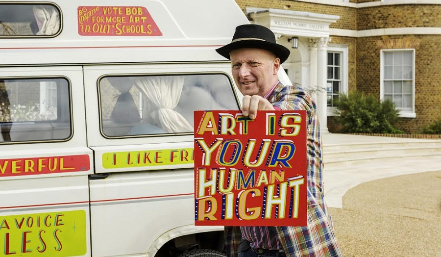 Bob and Roberta Smith at Wiliam Morris Gallery