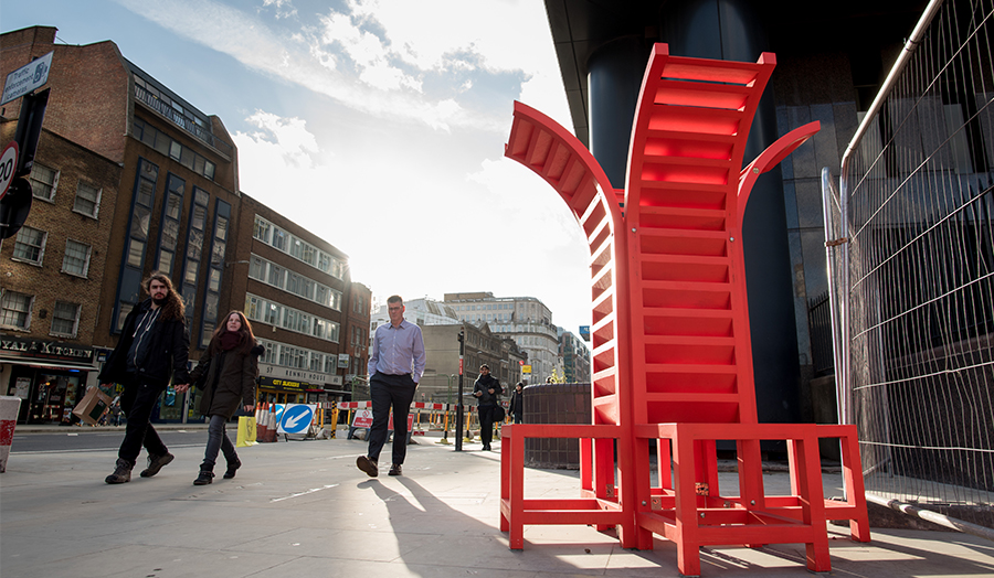 Furniture Design University London aldgate street furniture installed - london metropolitan university