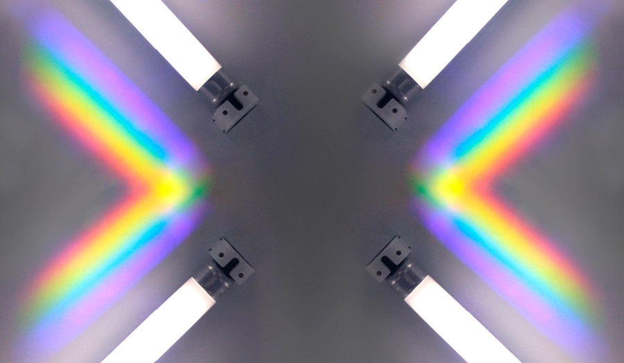 Image of a refraction of light