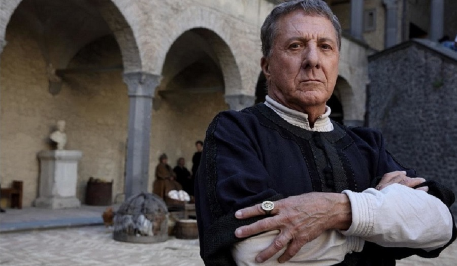 Dustin Hoffman in Medici Masters of Florence on which Cass Alumna Colette Pacini worked as production assistent