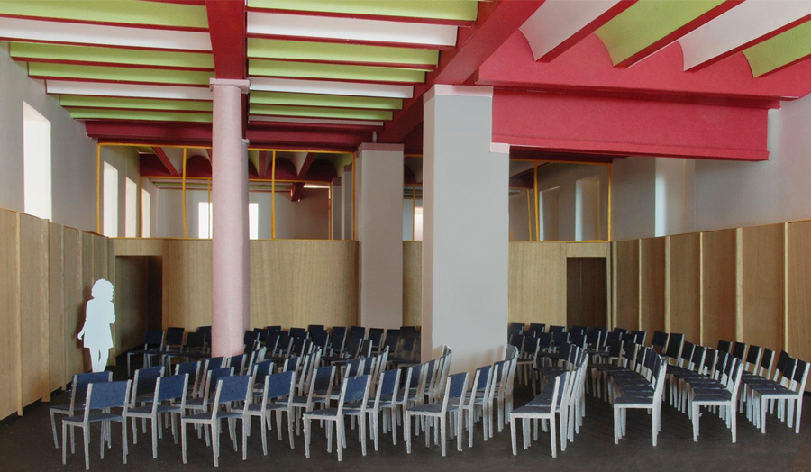 Architect's model of a lecture hall