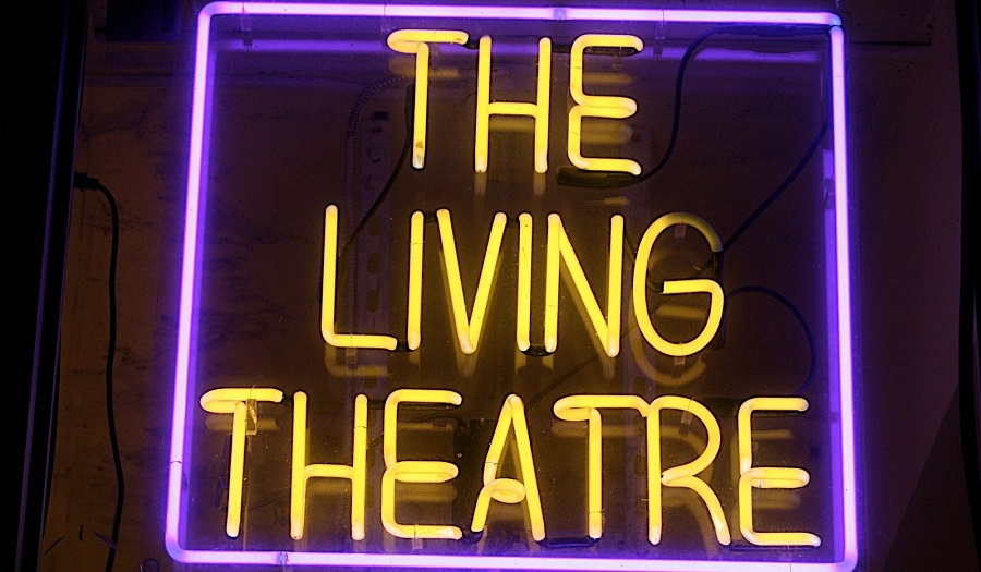 Neon sign for living theatre