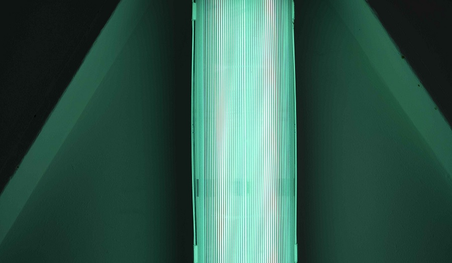 abstract image of strip light in green