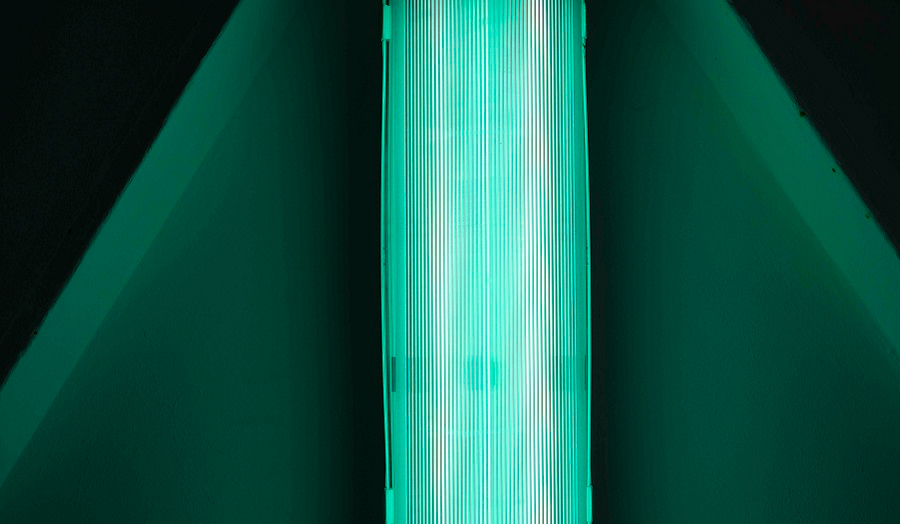 Strip of green light