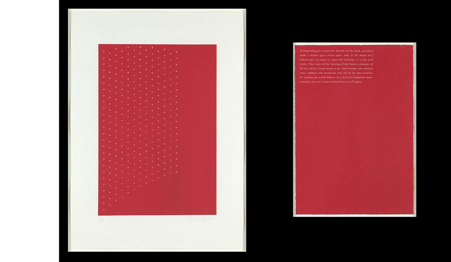 'At Regensburg he crossed...' (2001) Screenprint - Tess Jaray