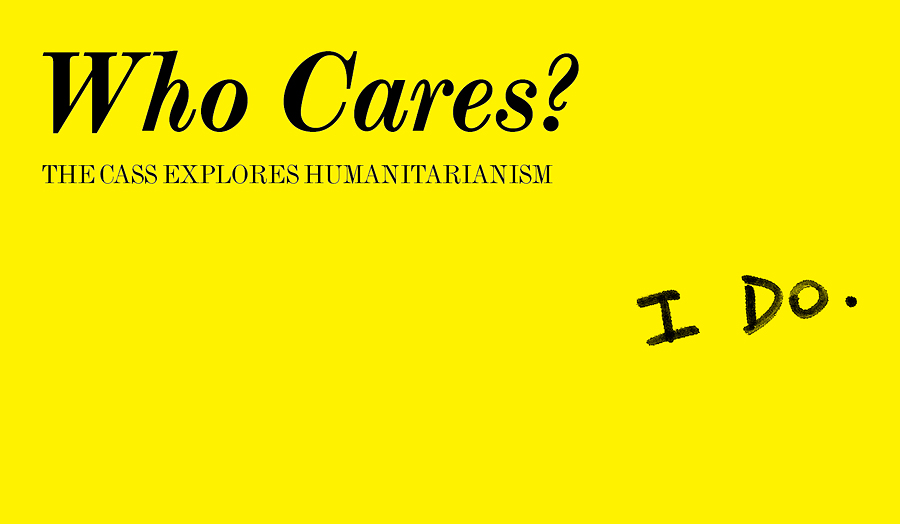 Image of the Who Cares? talks poster.