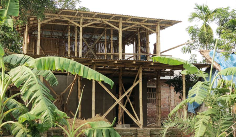 Cain frame, house in construction