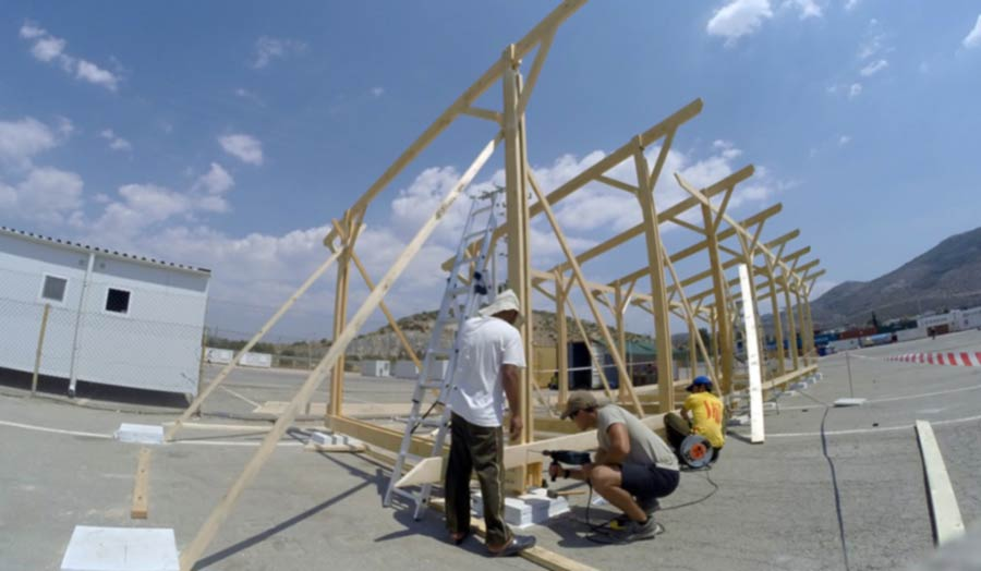 Shelter construction for refugees