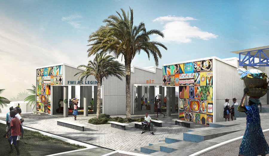 Design for a public space in Canaan, Haiti by EVA Studio