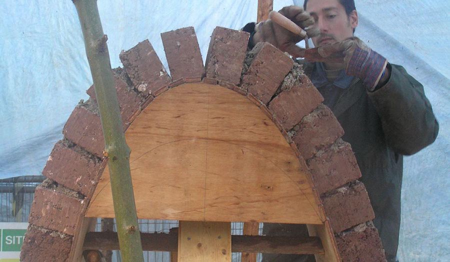 Earthblock Arch and Timber Formwork