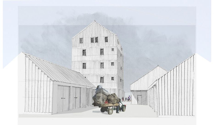 Proposed Yard and Workshops by Matthew Farrer