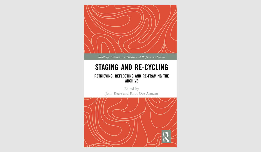 Red Book cover of Staging and Re-cycling on a grey background