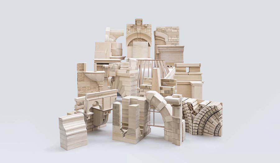 Wooden Models of classical architecture elements
