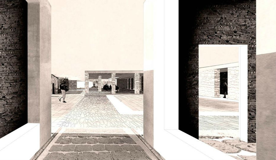 Archaeologists courtyard Ryan McStay