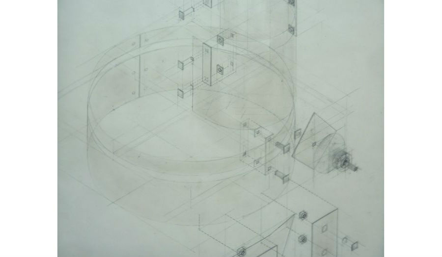 Construction of shelter Fragment of large drawing