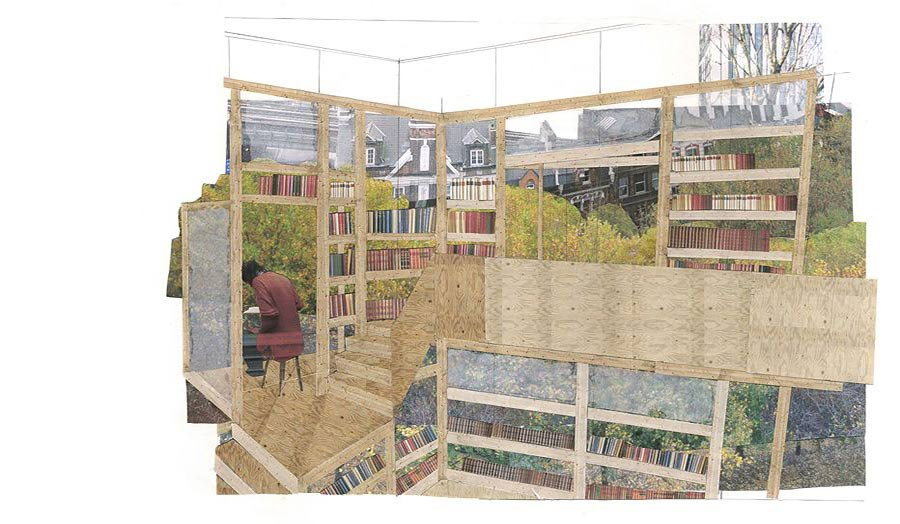 Reading room in the woods Simon Maddy