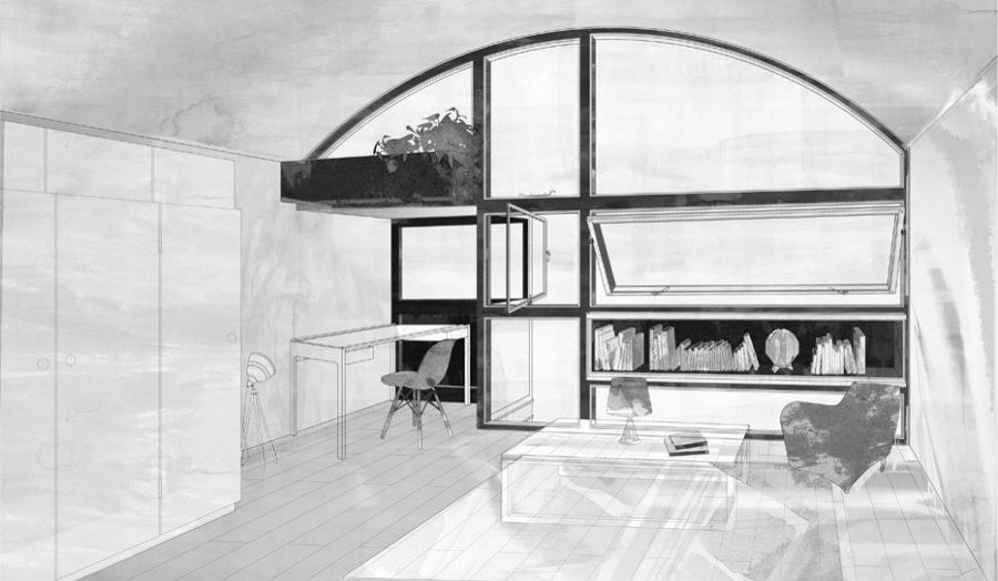 Rosie Minkler Cresent House Inhabitation Study