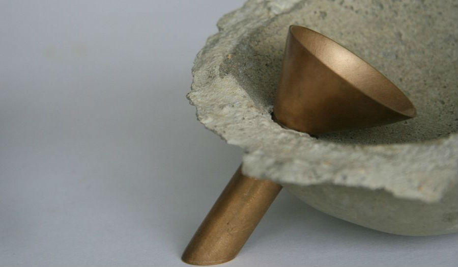 Tabitha Frost: Cement bowl and funnel