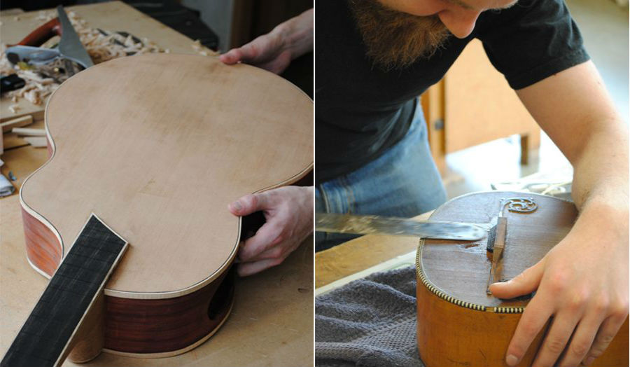 Luke Sharples Alex Hunt Guitar Restoration