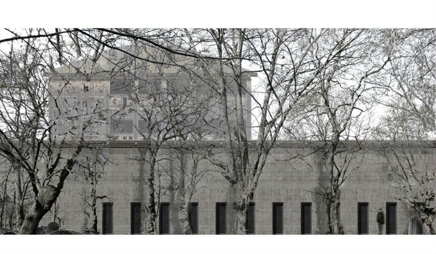 Elevation of the Blake Institute from Bunhill Fields Judit Laczil